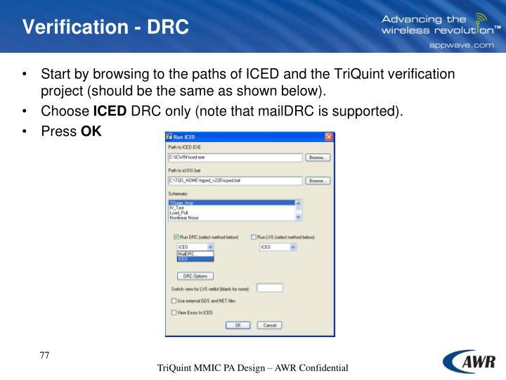 Verification - DRC