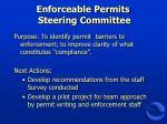 enforceable permits steering committee