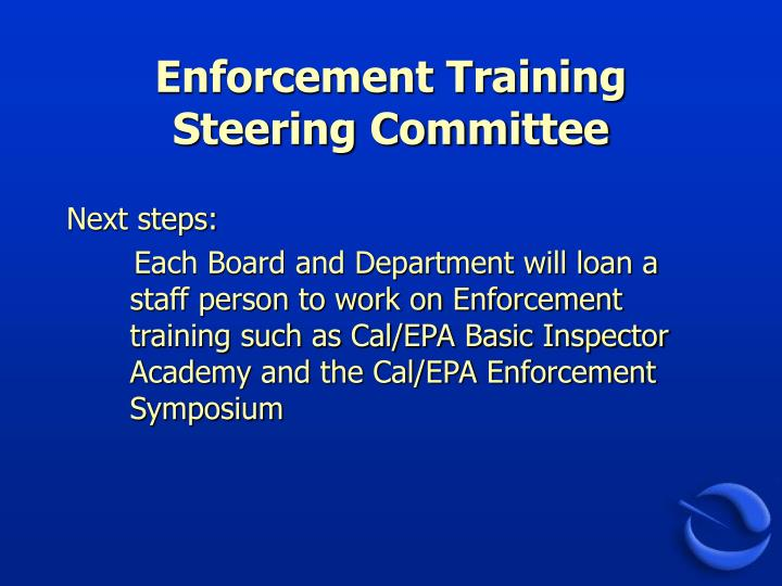 Enforcement Training