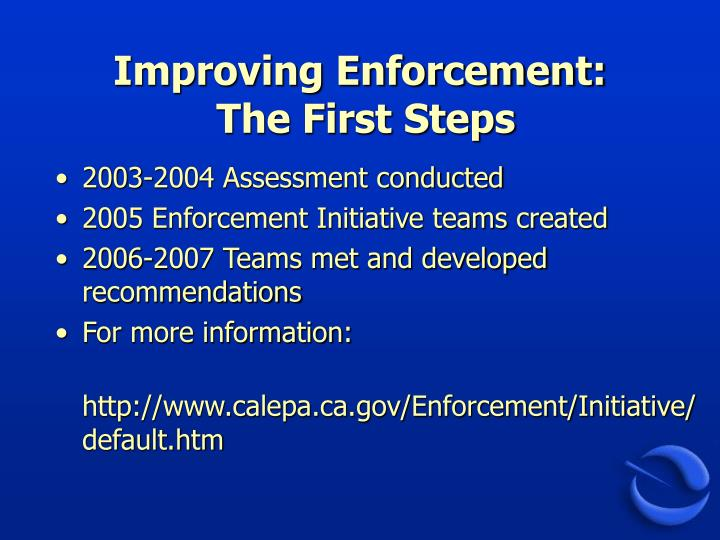 Improving Enforcement: