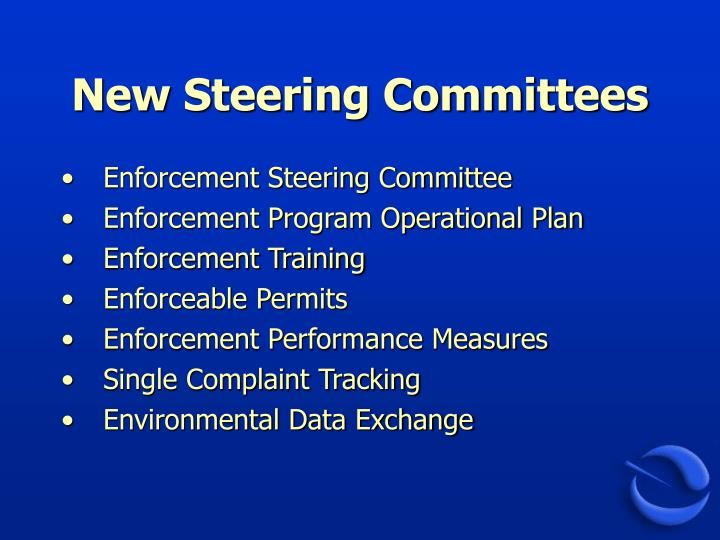 New Steering Committees
