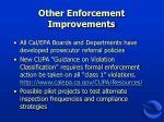 other enforcement improvements