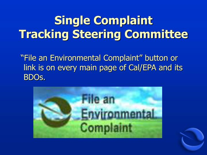 Single Complaint