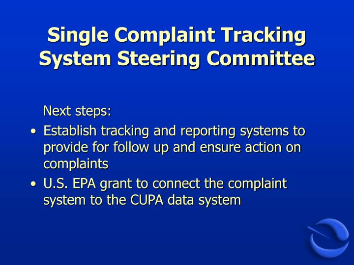 Single Complaint Tracking System Steering Committee