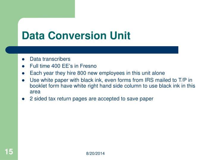 Data Conversion Unit