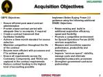 acquisition objectives