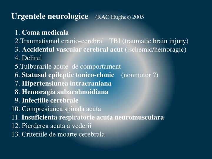 Urgentele neurologice