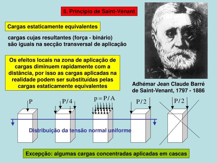 Distribuição da tensão normal uniforme