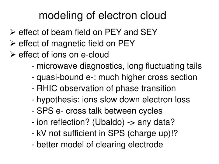 modeling of electron cloud