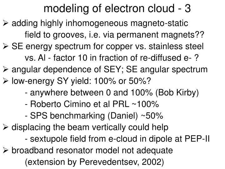 modeling of electron cloud - 3