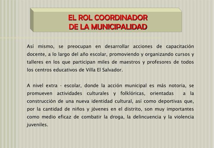 EL ROL COORDINADOR