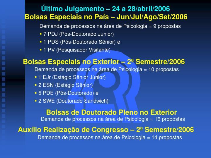 Último Julgamento – 24 a 28/abril/2006