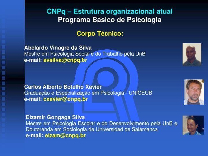 CNPq – Estrutura organizacional atual