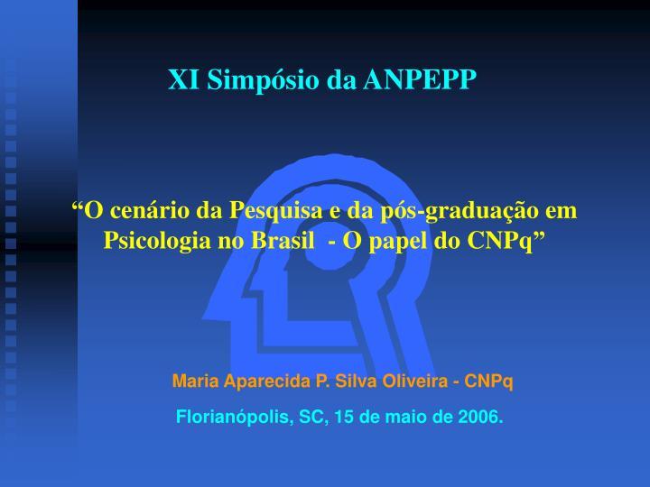 XI Simpósio da ANPEPP