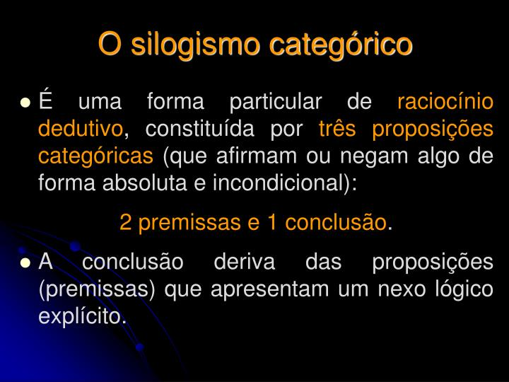 O silogismo categórico