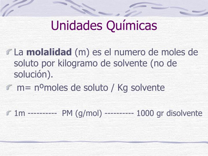 Unidades Químicas
