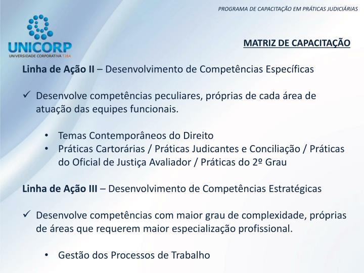 MATRIZ DE CAPACITAÇÃO