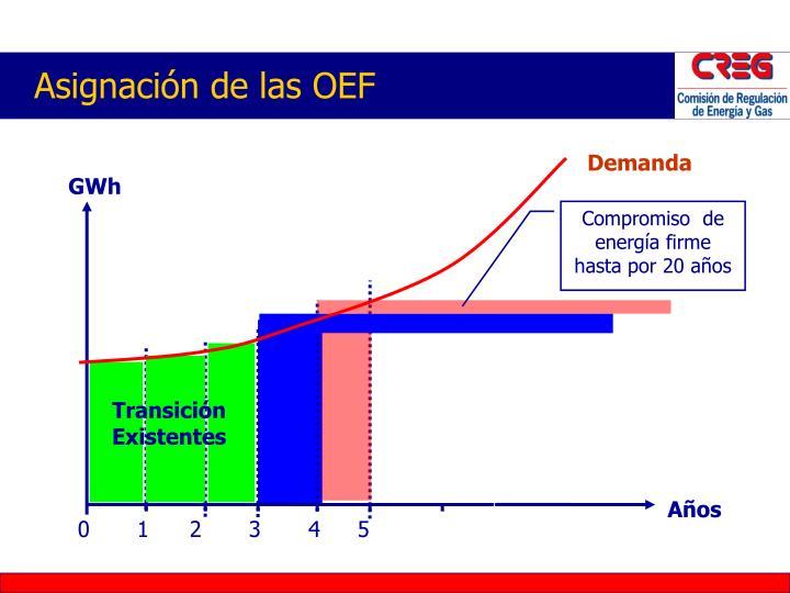 Asignación de las OEF