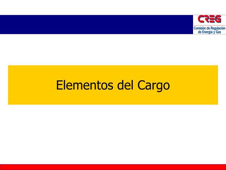 Elementos del Cargo