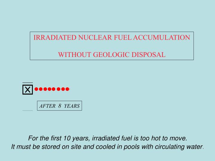 IRRADIATED NUCLEAR FUEL ACCUMULATION