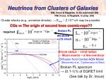 neutrinos from clusters of galaxies