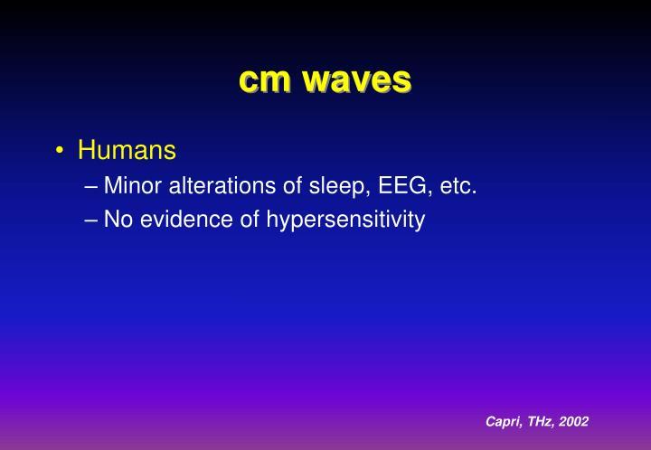 cm waves
