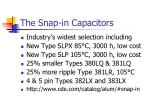 the snap in capacitors