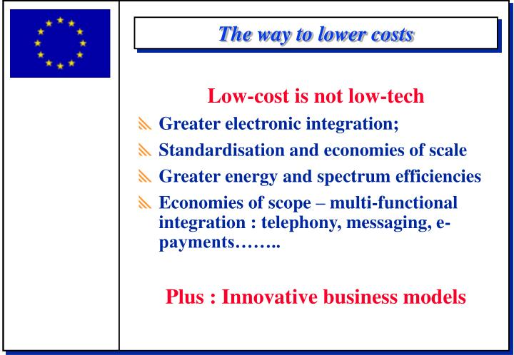 The way to lower costs
