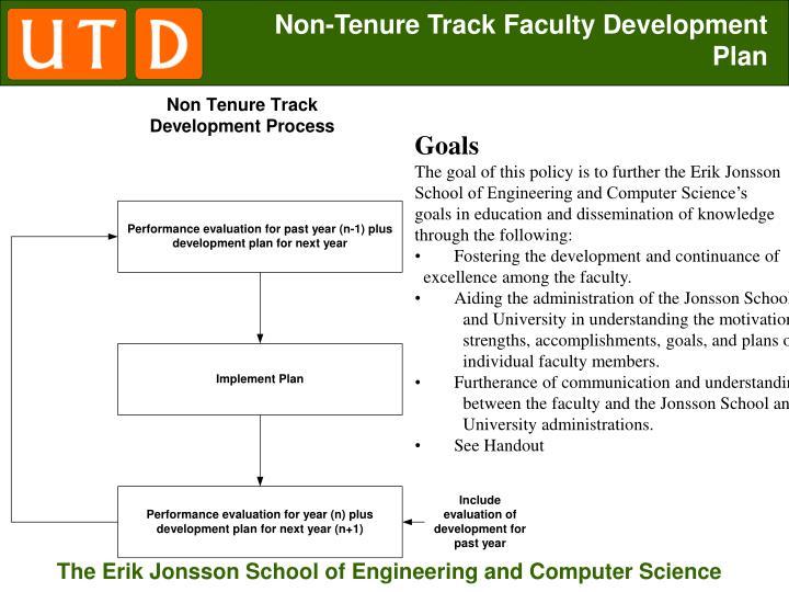 Non-Tenure Track Faculty Development Plan