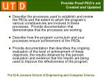 provide proof peo s are created and updated