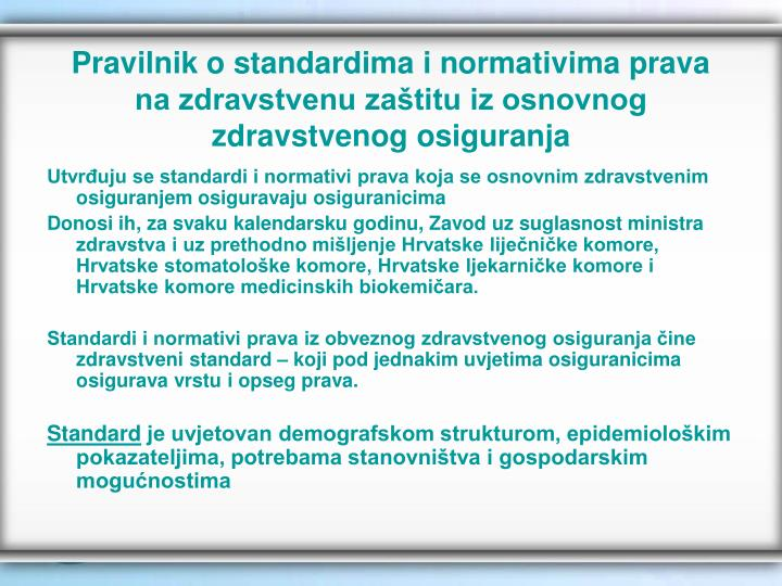 Pravilnik o standardima i normativima prava