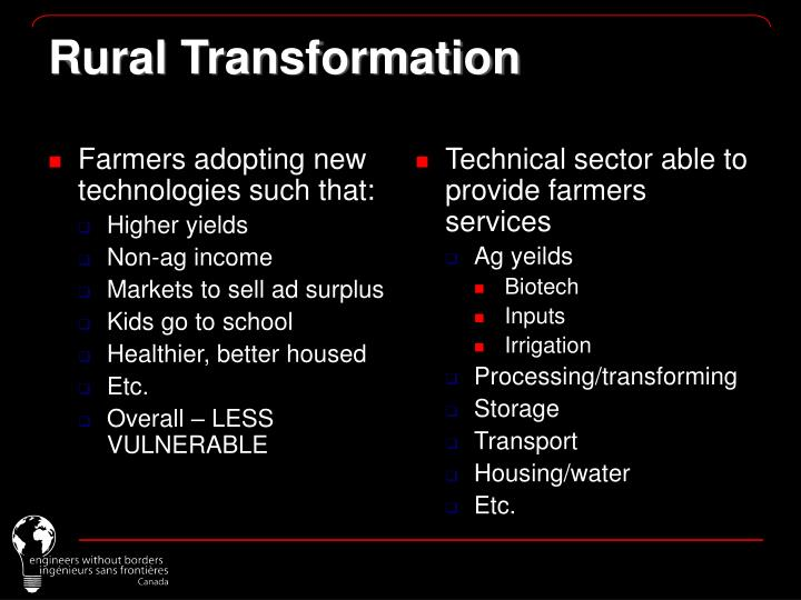 Farmers adopting new technologies such that: