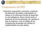 componentes del pej