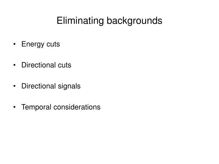 Eliminating backgrounds