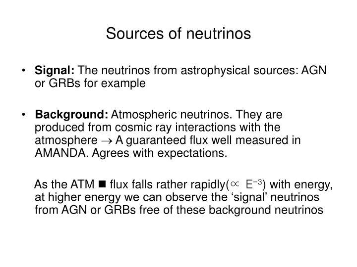 Sources of neutrinos