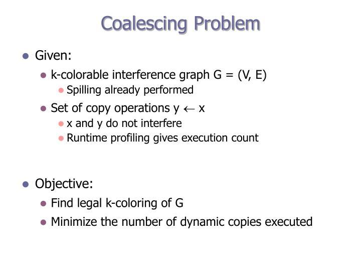 Coalescing Problem