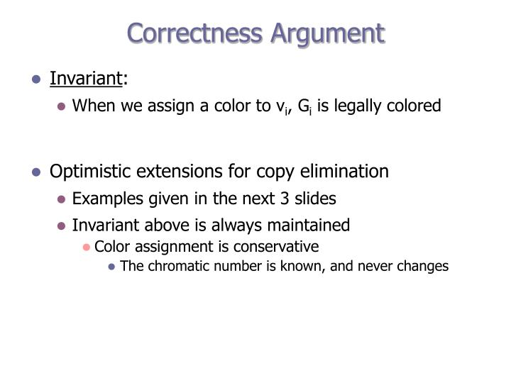 Correctness Argument