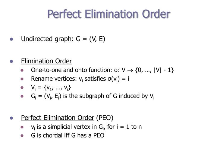 Perfect Elimination Order
