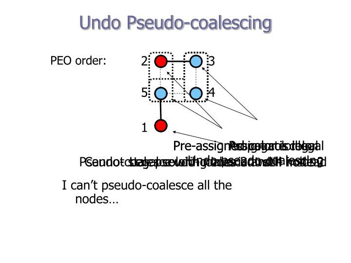 Undo Pseudo-coalescing