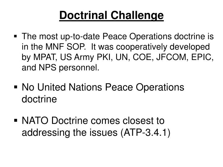Doctrinal Challenge