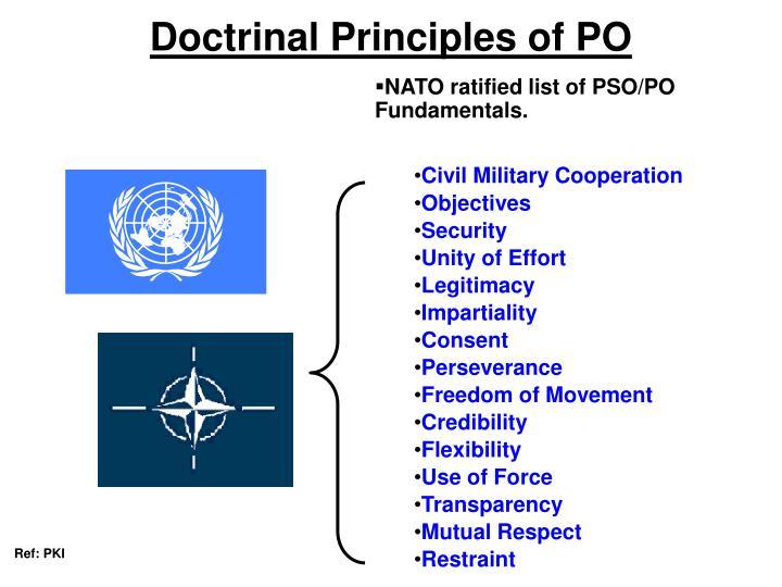 Doctrinal Principles of PO