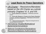 legal basis for peace operations
