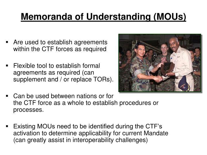 Memoranda of Understanding (MOUs)