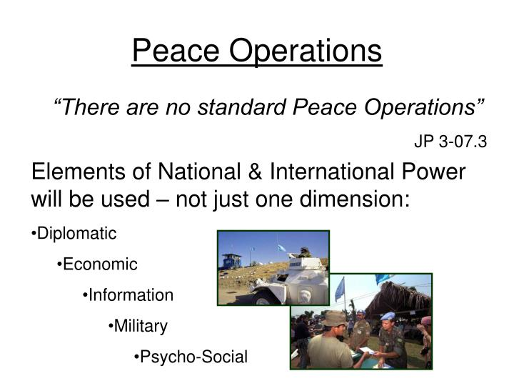 Elements of National & International Power will be used – not just one dimension: