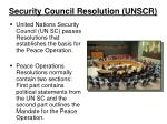 security council resolution unscr
