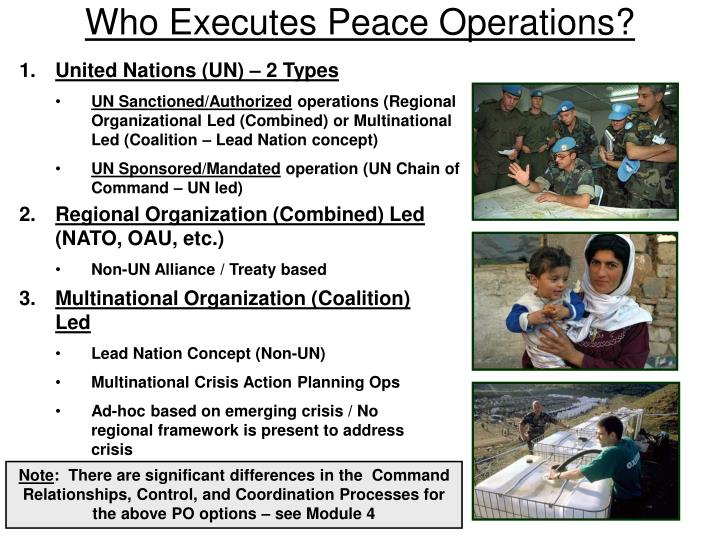 Who Executes Peace Operations?