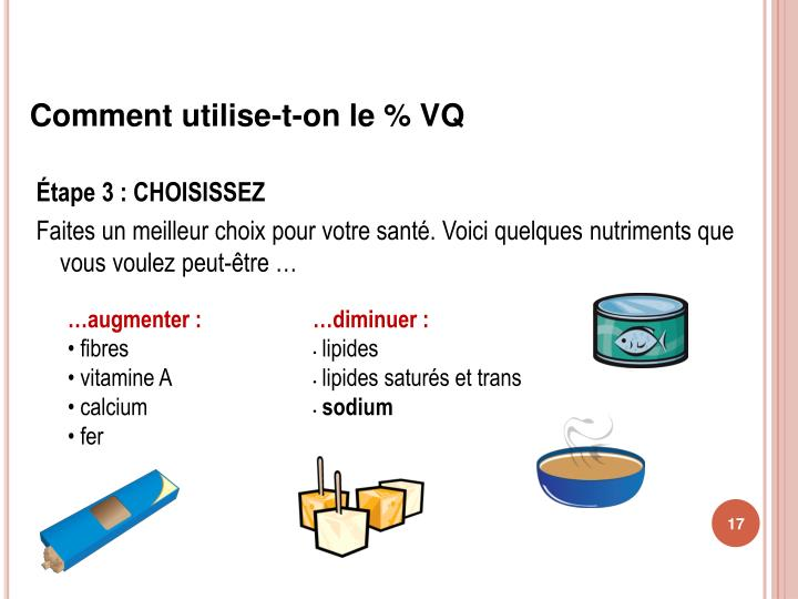 Comment utilise-t-on le % VQ