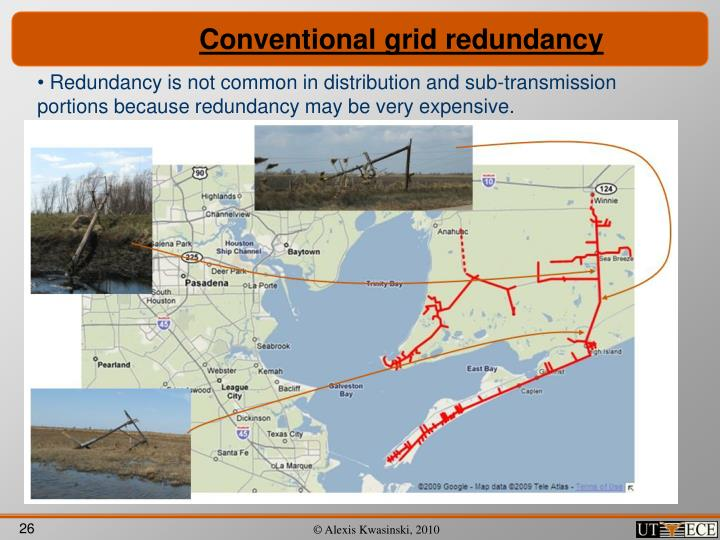 Conventional grid redundancy
