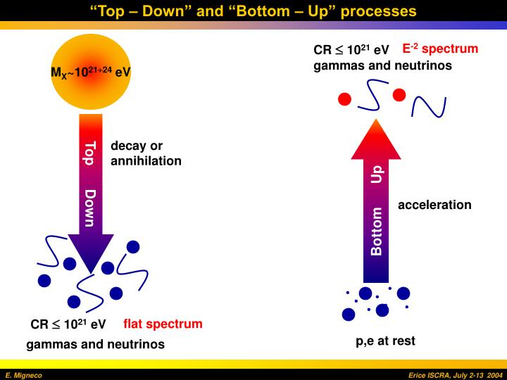 """Top – Down"" and ""Bottom – Up"" processes"