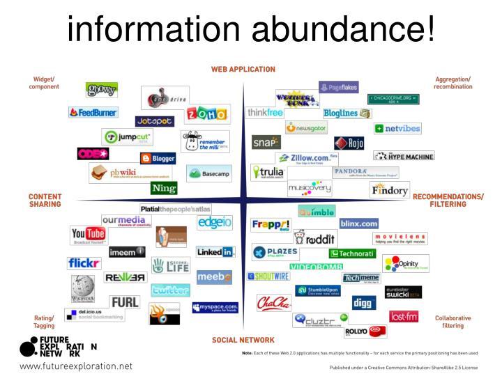 information abundance!